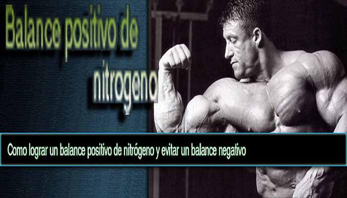 Balance positivo de nitrógeno